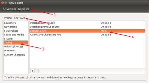 Konfiguracja Compose Key w Ubuntu
